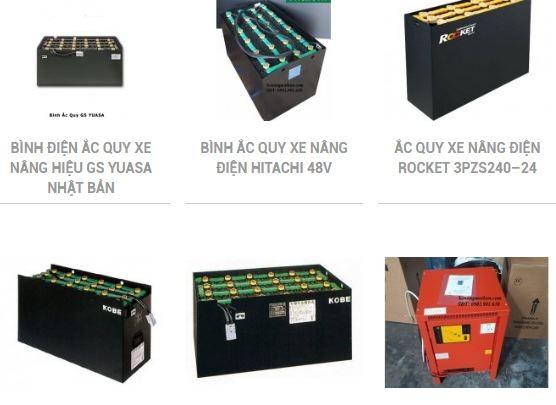 chuyên bán bình điện xe nâng Hitachi, Hawker, MIDAC, GS
